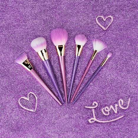 Glittery Makeup Brushes