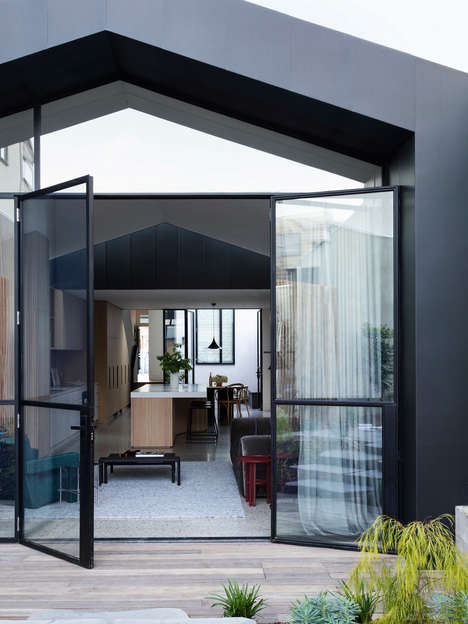 Modern Zinc Extensions - 'Port Melbourne House' is a Heritage Property with a Modern Renovation