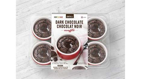 In-Pot Soufflé Packaging - Delici's Soufflé Desserts are Packaged in Reusable Ceramic Ramekins