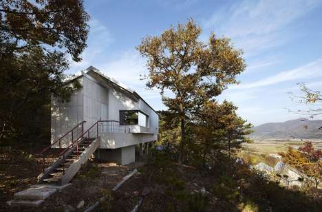 Isolated Forest Bunkers - This Home in South Korea Highlights the Surrounding Environment