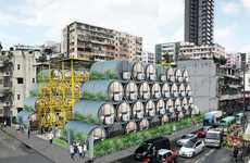Micro Housing-Relief Initiatives - These Hong Kong Micro Apartments are in Concrete Pipes