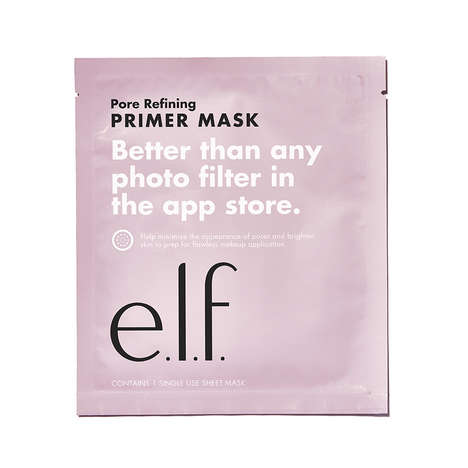 Priming Sheet Masks - e.l.f. Cosmetics' Pore-Refining Primer Mask is Touted as a Real-Life Filter