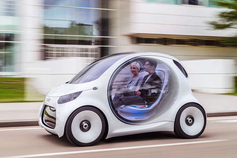 Rideshare-Accommodating Vehicles - The Mercedes-Benz 'Smart Vision EQ' is Ready for the Future