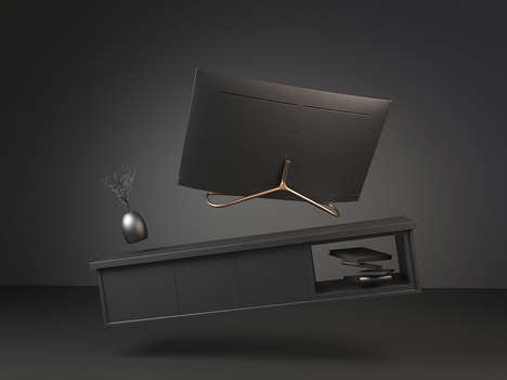 Antler-Inspired Display Stands - The 'ELK' Stand Discreetly Keeps Your QLED TV in Place