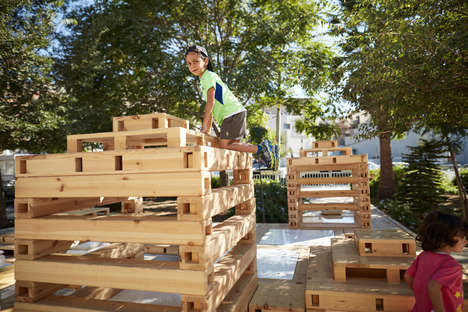 Stackable Modular Playgrounds - This Customized Playscapes System Transforms Lots into Playgrounds