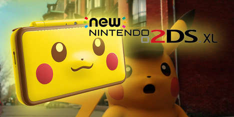 Handheld Anime Monster Consoles - The Nintendo 2DS XL Pikachu Edition Celebrates Detective Pikachu