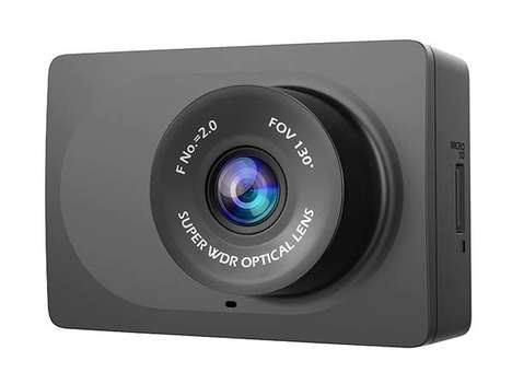 Miniature Vehicle Dash Cameras - The YI Compact Dash Cam Records Footage in Crisp HD