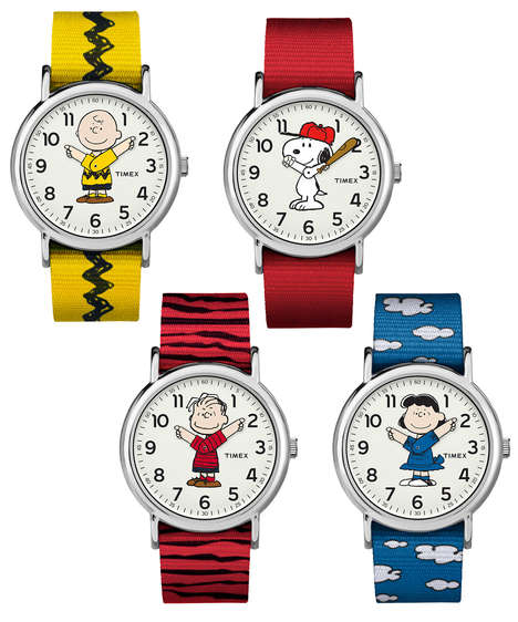 Whimsical Cartoon Timepieces - The Timex Weekender x Peanuts Watches Celebrate Classic Characters