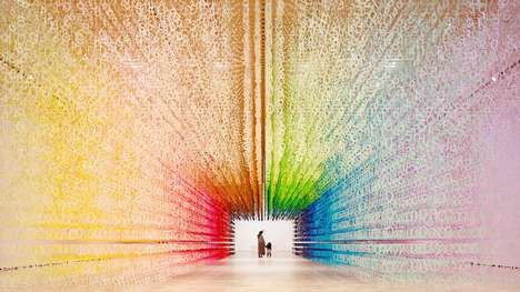 Colorful Temporal Exhibits - 'Colour of Time' Consists of 120,000 Paper Cut-Outs