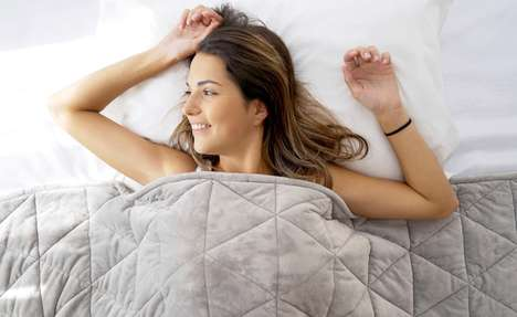 Magnet-Infused Bedding - The 'MagnetG' Magnetic Weighted Blanket Alleviates Stress