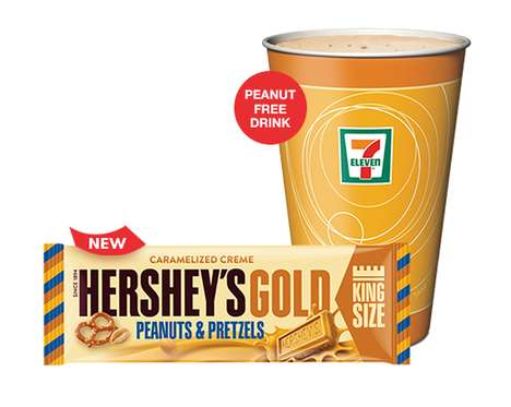 Candy Bar-Flavored Coffees - The New 7-Eleven Hershey's Gold Cappuccino is Buttery, Sweet and Salty