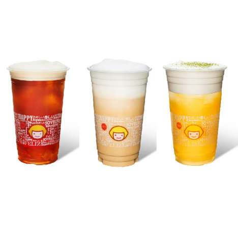 Expansive Cheese Tea Chains - The Cheese Tea Craze Has Spread to the U.S as Happy Lemon Retails It