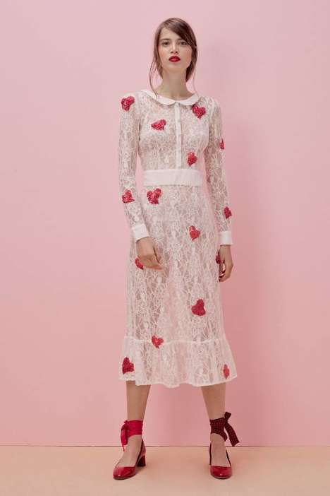 Collaborative Romantic Fashion - For Love & Lemons Created a Romantic Jaime King Collaboration