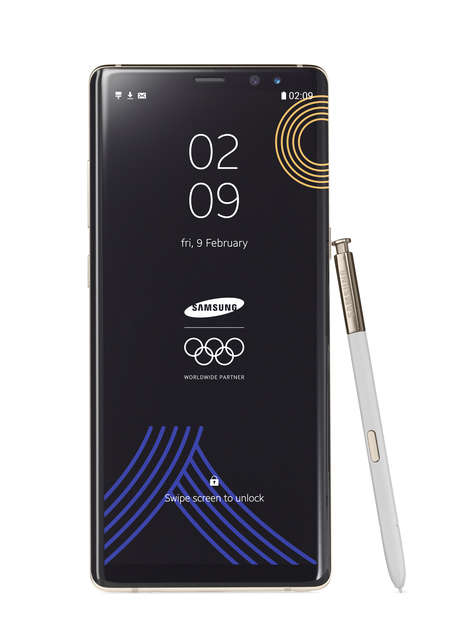 Limited Edition Olympic Phones - Samsung's Winter Olympic Galaxy Note 8 Enhances Olympic Experiences