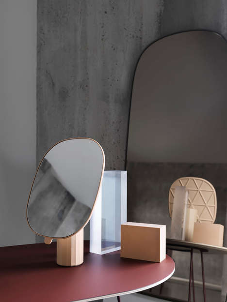 Parisian-Inspired Mirrors - Muuto's Mimic Mirrors Reimagine the French Barber Shop Plastic Mirrors