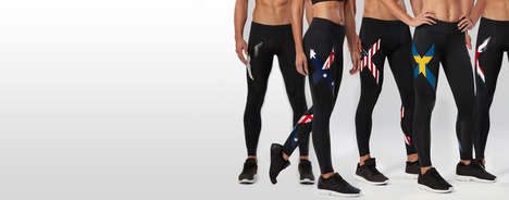 High Performance Compression Tights - 2 XU Provides Superior Support and Faster Recovery Rates