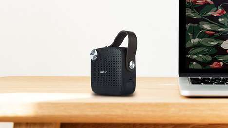 FM Radio Bluetooth Speakers - The HiFi MC Micro Portable Music System Can Be Carried Anywhere