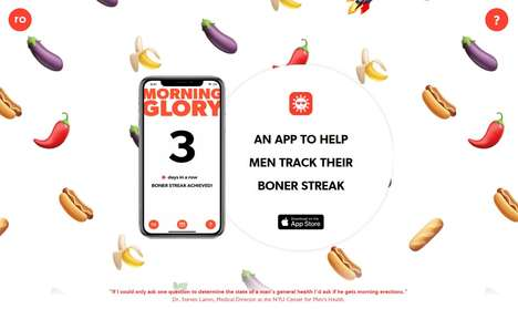 Erection-Tracking Apps - The 'Morning Glory' App Aims to Raise Awareness for Men's Health