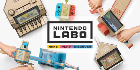 Cardboard Gaming Kits - Nintendo Labo Introduces DIY Kits for the Nintendo Switch