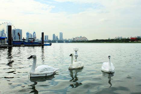 Water-Monitoring Swan Mechanisms