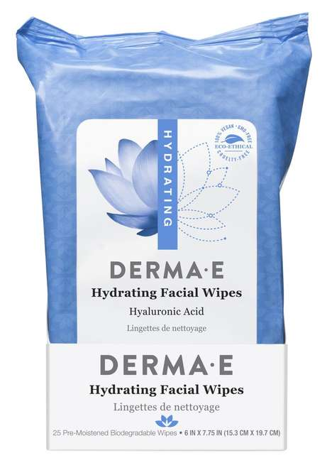 Ultra-Hydrating Facial Wipes - Derma E's Face Wipes Condition and Moisturize with Hyaluronic Acid