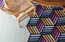 Modular Rug Furniture - Front's Modular Rugs Can Fold Up to Be an Extra Chair at Your Dinner Party