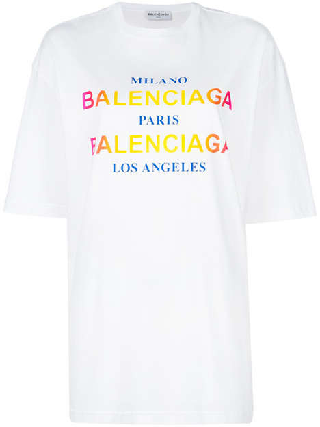 Lavish Worldly T-Shirts - Balenciaga Released a Series of New Over-Sized City-Themed T-Shirts