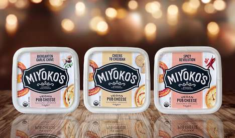 Vegan Pub Cheeses - Miyoko's Kitchen is Launching a Trio of Dairy-Free Soft Cheeses