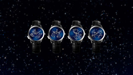 Astrology-Themed Watches - The Midnight Zodiac Lumineux Poetic Watch Collection Explores Astrology