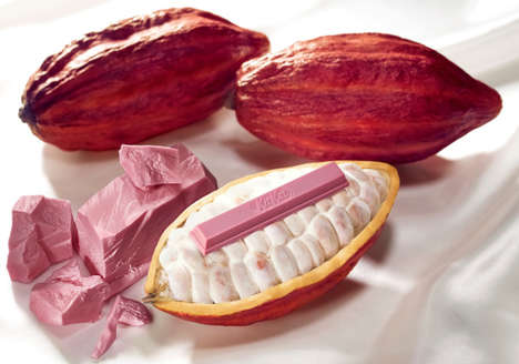 Naturally Pink Chocolate Bars - The Ruby Chocolate Kit Kat is Made with Ruby Cocoa Beans