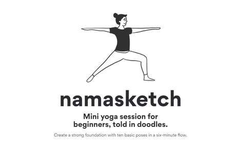 Sketchy Yoga Lessons - 'Namasketch' Teaches Beginner Yoga Using Cute Doodles