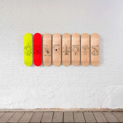 Charitable Skateboard Collaborations - The Skateroom & Paul McCarthy Created Skateboards for a Cause
