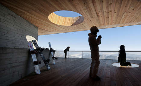 Monolithic Ski Lodges - 'Stage of Forest' is a Mysterious Mountaintop Lookout