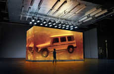 Amber-Encased Luxury Trucks - Mercedes-Benz Sealed a 1979 G-Class in Synthetic Amber Resin