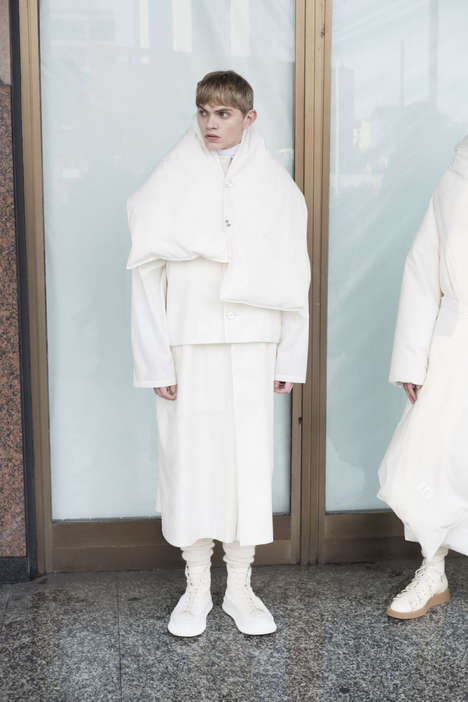 Layered Minimalist Fashion - Jil Sander's Fall/Winter Collection is Minimal and Asymmetrical