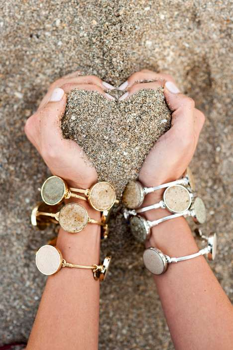 Handmade Sand Jewelry - Dune Jewelry Stylizes Specs of Sand with Stainless Steel