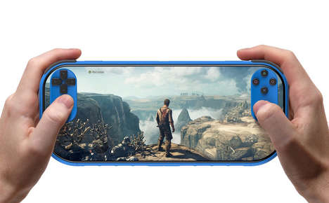 Handheld Edge-to-Edge Consoles - This PSP Concept Puts Controls onto the Immersive Screen