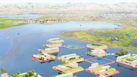 Floating Flood-Protection Villages - BIG and Two Other Firms Created a Masterplan for Islais Creek