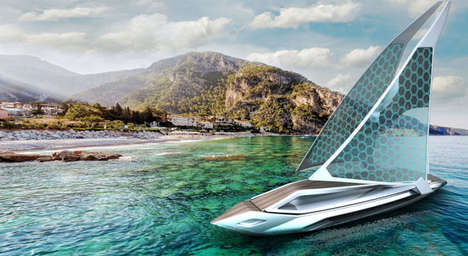 Swordfish-Inspired Vessels - The 'Kathreen' Sailing Yacht Has a Modern, Elegant Aesthetic