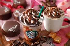 Decadent Valentine's Frappuccinos - Starbucks Japan's 'Chocoholic Frappuccino' is a Festive Drink