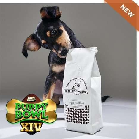 Charitable Pet-Centric Coffees - The Puppy Bowl's Coffee for Charity Supports Shelter Pets