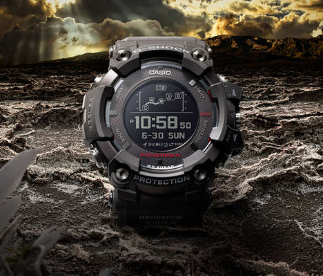 Solar-Assisted GPS Timepieces - The Casio G-Shock Rangeman Watch Offers Tracking and Connectivity