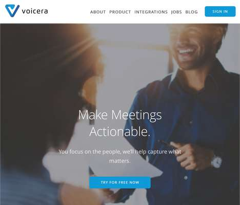 Meeting-Optimizing Virtual Assistants - Voicera 'Eva' Transcribes Meetings to Increase Efficiency