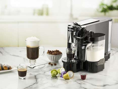 Automated Latte Appliances - The Gourmia One Touch Automatic Espresso Maker is Simple to Use