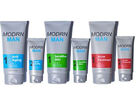 Masculine Two-in-One Cosmetics - The Modrn Man Two-Step Cosmetic System Accelerates Skincare
