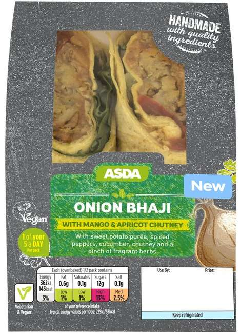 Globally Inspired Vegan Wraps - Asda's Grab-and-Go 'Onion Bhaji' Wrap Plays Up International Flavors