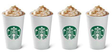 Smoky Sweet Candy Coffees - The Starbucks Smoked Butterscotch Latte Comes Hot, Iced or Blended