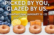Social Glazed Doughnut Promotions - The Krispy Kreme #VoteForGlaze Campaign will Pick a New Flavor