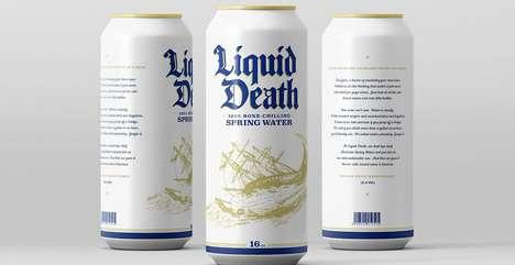 Edgy Spring Water Branding