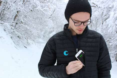 Smartphone-Charging Winter Jackets - The 'SNOW-C' Coat Packs Charging Power in the Pocket